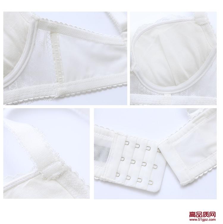白色新款甜美刺绣性感小胸聚拢少女内衣套装文胸+内裤