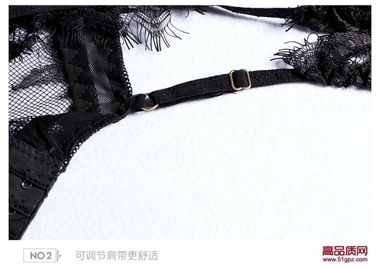 情趣内衣欧美外贸性感蕾丝睡衣钢托聚拢女式透明吊带睡裙