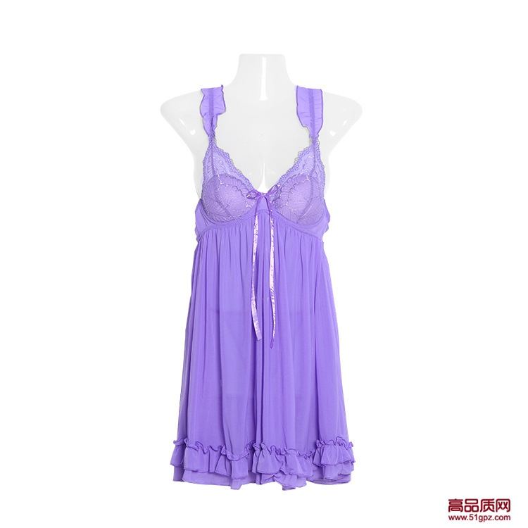欧美情趣内衣诱惑大码女性感蕾丝睡裙透视装睡衣吊带裙