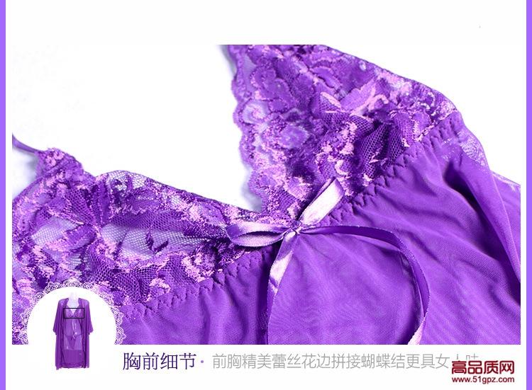 性感蕾丝网纱透视诱惑情趣内衣三件套睡衣睡裙吊带裙
