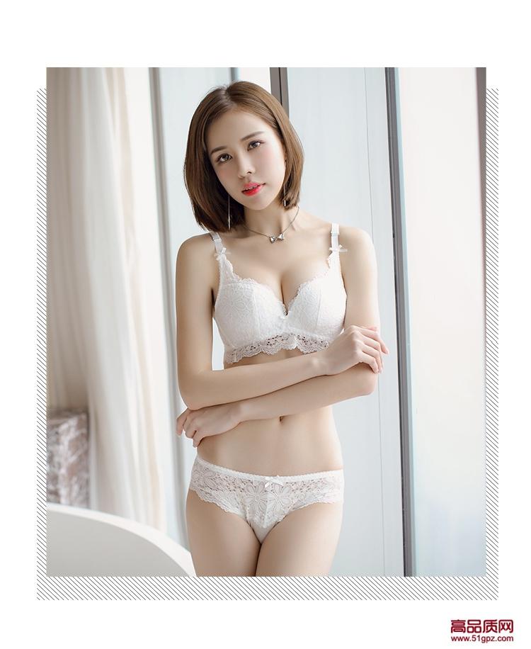 白酒红黑色日系甜美蕾丝白色女士学生厚模杯无钢圈文胸小胸聚拢加厚性感bra