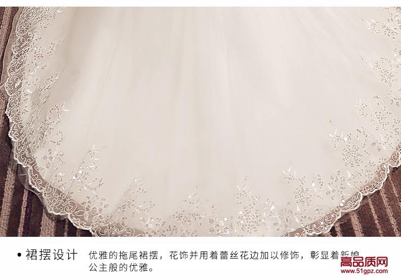 白色一字肩鱼尾婚纱礼服2018新款新娘结婚欧美显瘦修身鱼尾婚纱小拖尾