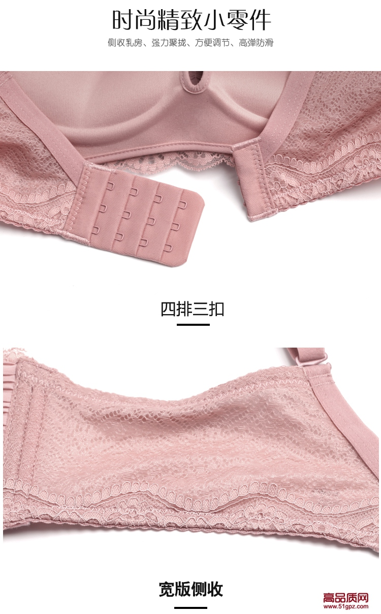 粉白黑肤色日系性感百褶蕾丝无钢圈抹胸式少女文胸小胸加厚上托聚拢内衣套装