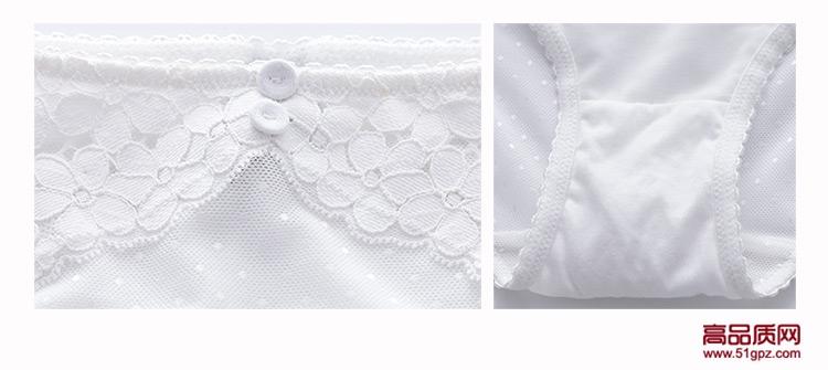 白色新款上薄下厚后三排搭扣甜美性感蕾丝小胸聚拢女士内衣套装