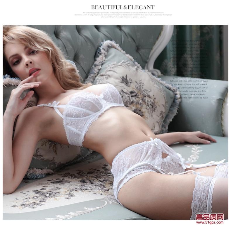 白粉黑色欧美性感诱惑蕾丝超薄款复古宽边透视透明吊袜带吊袜夹